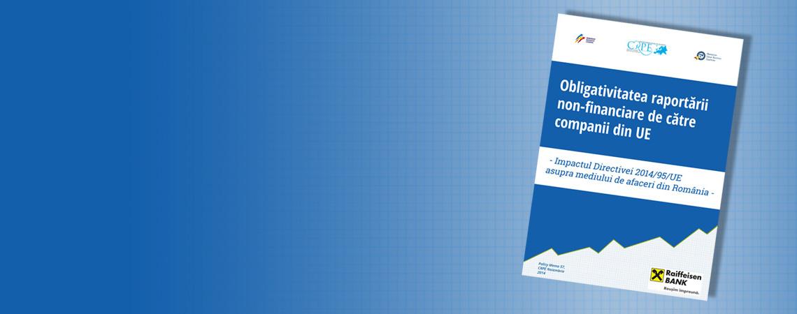 INTEGRITATE: Raportarea non financiară – instrument european pentru etica în afaceri